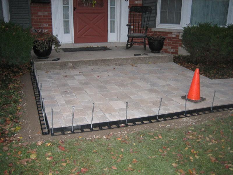 Stoop Patio U0026 Sidewalk Completed