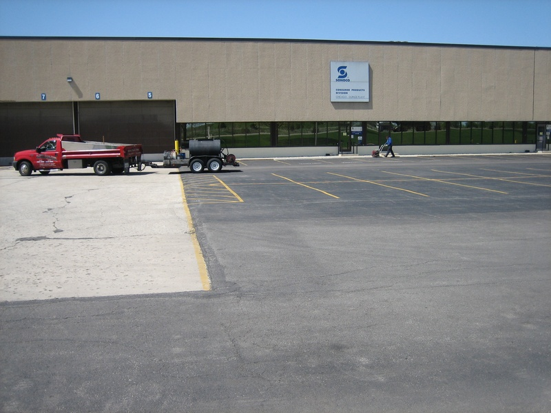 Sonoco / Dupage Plant - St. Charles IL. - Before Sealcoating (1 of 7)